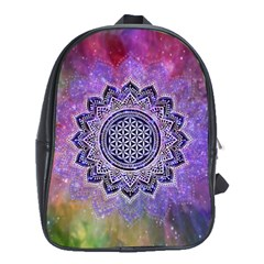 Flower Of Life Indian Ornaments Mandala Universe School Bags (xl)  by EDDArt