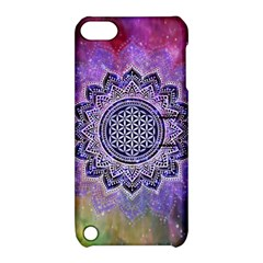 Flower Of Life Indian Ornaments Mandala Universe Apple Ipod Touch 5 Hardshell Case With Stand by EDDArt