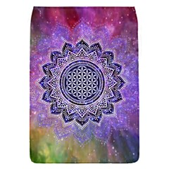 Flower Of Life Indian Ornaments Mandala Universe Flap Covers (s)  by EDDArt