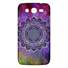 Flower Of Life Indian Ornaments Mandala Universe Samsung Galaxy Mega 5 8 I9152 Hardshell Case  by EDDArt