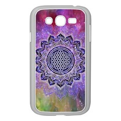 Flower Of Life Indian Ornaments Mandala Universe Samsung Galaxy Grand Duos I9082 Case (white) by EDDArt