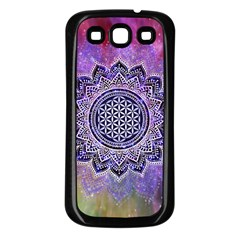 Flower Of Life Indian Ornaments Mandala Universe Samsung Galaxy S3 Back Case (black) by EDDArt