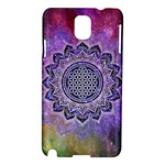 Flower Of Life Indian Ornaments Mandala Universe Samsung Galaxy Note 3 N9005 Hardshell Case