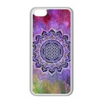 Flower Of Life Indian Ornaments Mandala Universe Apple iPhone 5C Seamless Case (White)