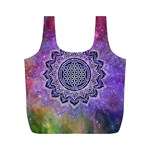 Flower Of Life Indian Ornaments Mandala Universe Full Print Recycle Bags (M)