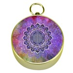 Flower Of Life Indian Ornaments Mandala Universe Gold Compasses