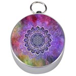 Flower Of Life Indian Ornaments Mandala Universe Silver Compasses
