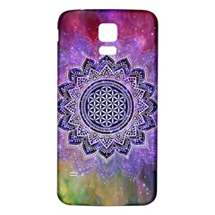 Flower Of Life Indian Ornaments Mandala Universe Samsung Galaxy S5 Back Case (white) by EDDArt