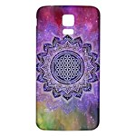 Flower Of Life Indian Ornaments Mandala Universe Samsung Galaxy S5 Back Case (White)