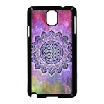 Flower Of Life Indian Ornaments Mandala Universe Samsung Galaxy Note 3 Neo Hardshell Case (Black)