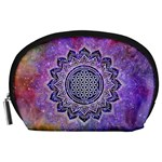 Flower Of Life Indian Ornaments Mandala Universe Accessory Pouches (Large)