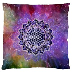 Flower Of Life Indian Ornaments Mandala Universe Standard Flano Cushion Case (one Side) by EDDArt