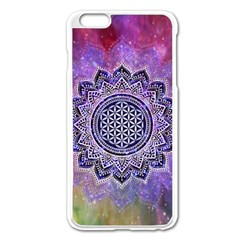 Flower Of Life Indian Ornaments Mandala Universe Apple Iphone 6 Plus/6s Plus Enamel White Case by EDDArt
