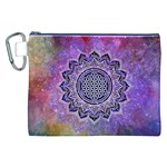 Flower Of Life Indian Ornaments Mandala Universe Canvas Cosmetic Bag (XXL)