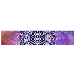 Flower Of Life Indian Ornaments Mandala Universe Flano Scarf (small) by EDDArt