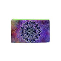 Flower Of Life Indian Ornaments Mandala Universe Cosmetic Bag (xs) by EDDArt