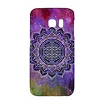 Flower Of Life Indian Ornaments Mandala Universe Galaxy S6 Edge