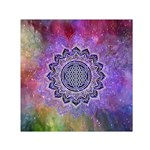Flower Of Life Indian Ornaments Mandala Universe Small Satin Scarf (Square)