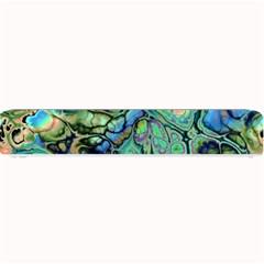 Fractal Batik Art Teal Turquoise Salmon Small Bar Mats by EDDArt