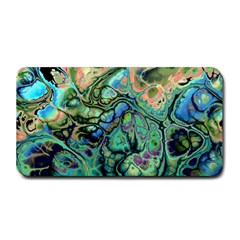 Fractal Batik Art Teal Turquoise Salmon Medium Bar Mats by EDDArt