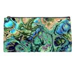 Fractal Batik Art Teal Turquoise Salmon Pencil Cases