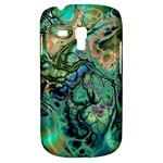 Fractal Batik Art Teal Turquoise Salmon Samsung Galaxy S3 MINI I8190 Hardshell Case