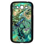 Fractal Batik Art Teal Turquoise Salmon Samsung Galaxy Grand DUOS I9082 Case (Black)