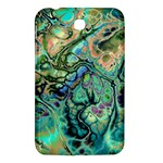 Fractal Batik Art Teal Turquoise Salmon Samsung Galaxy Tab 3 (7 ) P3200 Hardshell Case