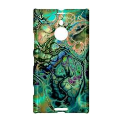 Fractal Batik Art Teal Turquoise Salmon Nokia Lumia 1520 by EDDArt