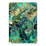 Fractal Batik Art Teal Turquoise Salmon Samsung Galaxy Tab Pro 10.1 Hardshell Case