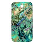 Fractal Batik Art Teal Turquoise Salmon Samsung Galaxy Mega I9200 Hardshell Back Case