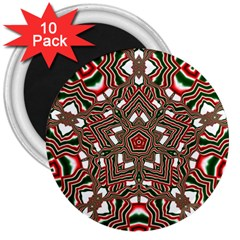 Christmas Kaleidoscope 3  Magnets (10 pack)