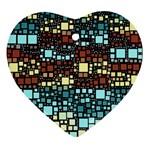 Block On Block, Aqua Ornament (Heart)