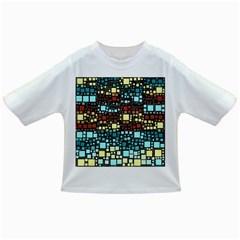 Block On Block, Aqua Infant/toddler T Shirts by MoreColorsinLife
