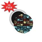 Block On Block, Aqua 1.75  Magnets (10 pack)