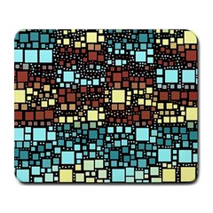 Block On Block, Aqua Large Mousepads by MoreColorsinLife