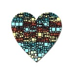 Block On Block, Aqua Heart Magnet