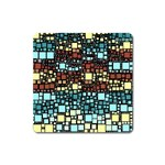 Block On Block, Aqua Square Magnet