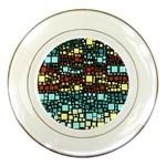 Block On Block, Aqua Porcelain Plates