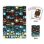 Block On Block, Aqua Playing Card