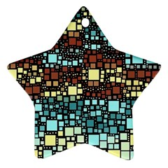 Block On Block, Aqua Star Ornament (two Sides)  by MoreColorsinLife