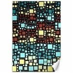 Block On Block, Aqua Canvas 12  x 18