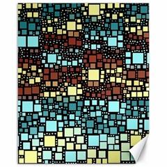 Block On Block, Aqua Canvas 16  X 20   by MoreColorsinLife