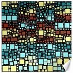 Block On Block, Aqua Canvas 20  x 20