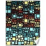 Block On Block, Aqua Canvas 18  x 24