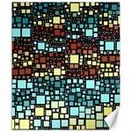 Block On Block, Aqua Canvas 20  x 24