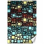 Block On Block, Aqua Canvas 20  x 30