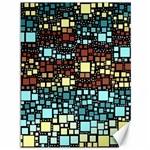 Block On Block, Aqua Canvas 36  x 48