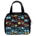 Block On Block, Aqua Classic Handbags (2 Sides)