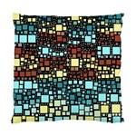 Block On Block, Aqua Standard Cushion Case (One Side)